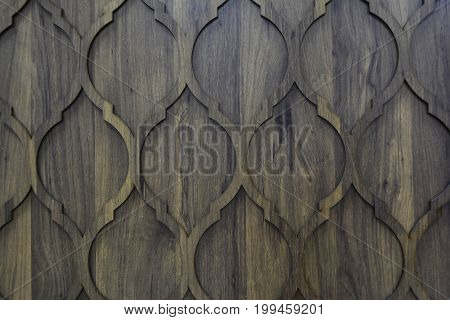 fragment pattern carved out of wood for interior decor