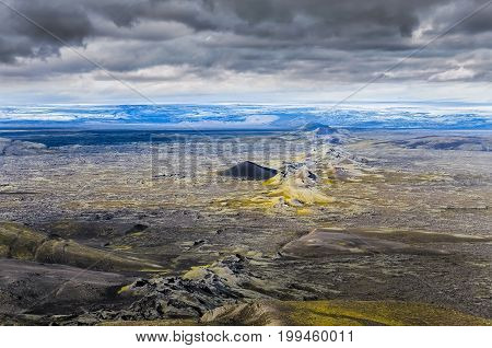 Dramatic Volcanic Landscape With Chain Of Craters, Lakagigar