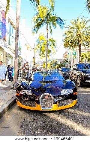 Beverly Hills, Ca - June 10, 2017: Bijan's Custom Bugatti