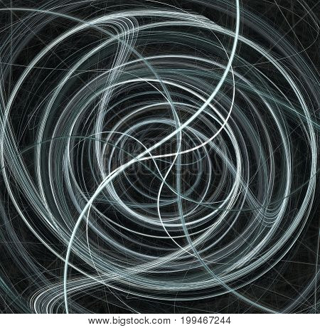 String dark wind wave swirl lines center abstract horizontal