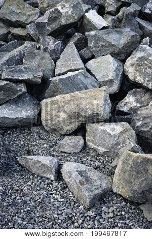 abstract background or texture heap stone from the quarry