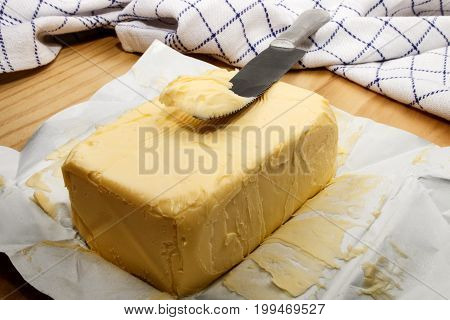 cold salty irish butter and a knife