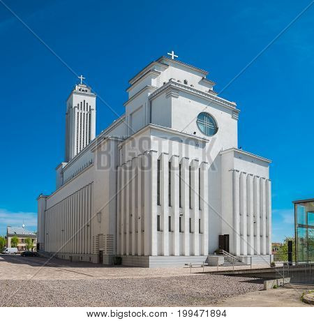 Our Lord Jesus Christs Resurrection Church In Kaunas, Lithuania.