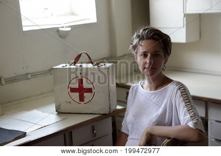 Portrait of a nurse in medical room
