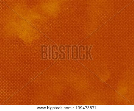Orange dark abstract textured background texture to the point with bright spots of paint. Blank background design banner.