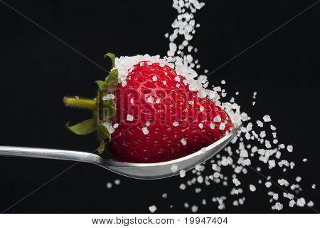 Sugar and strawberry