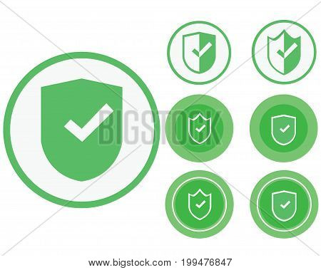 Icons of a safe transaction for sites.