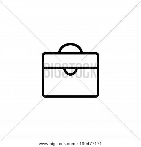 Thin Line Briefcase Icon On White Background