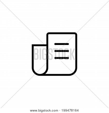 Thin Line Newspaper Icon On White Background