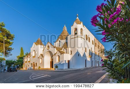 A Trullo-church Church of Trulli village Alberobello Apulia Italy.