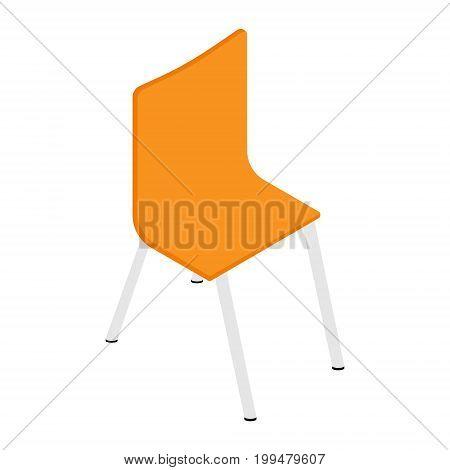 Orange Chair Isometric