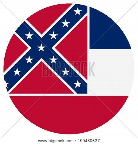 Mississippi Flag Vector
