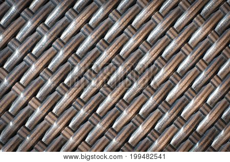 Brown rattan texture for background. Horizontal photo
