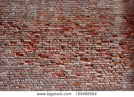 Old brick wall texture brickwork surface background