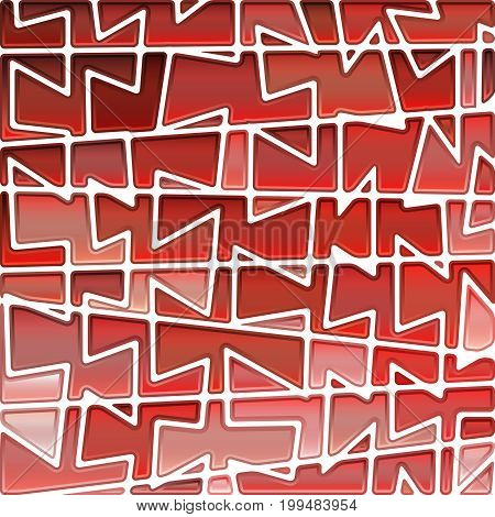 abstract vector stained-glass mosaic background - bright red
