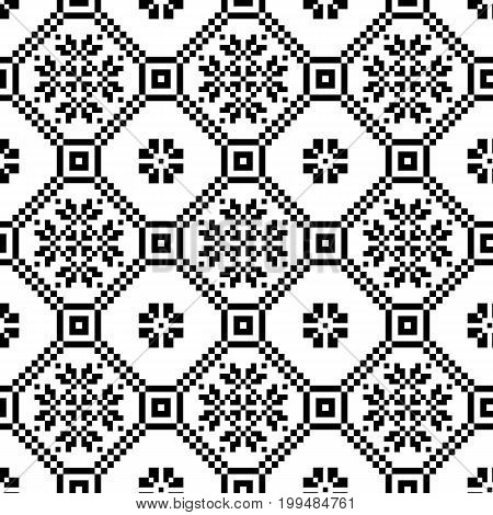 monochromatic ethnic seamless background. seamless textures in black and white colors. vector illustration.