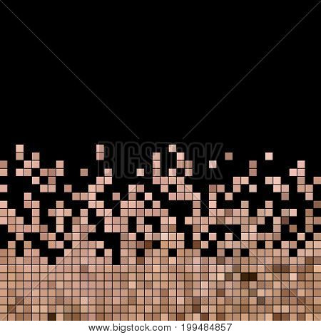 abstract vector square pixel mosaic background - pink