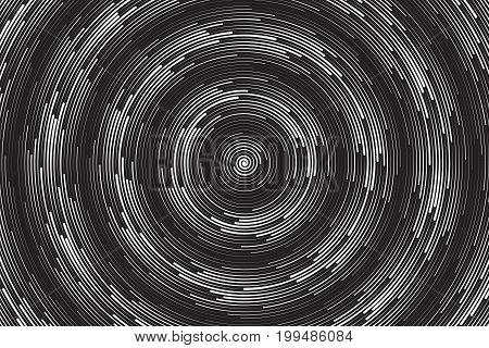 Hypnotic Spiral Vector Technology Abstract Background. Radial Structure Art Illustration