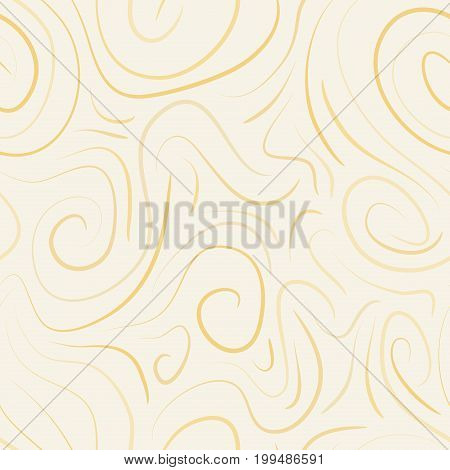abstract vector colored swirls seamless pattern - beige