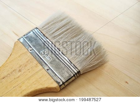 Art Supply Flat Paint Brush or Decorators Brush for Painting and Decorating on Flat Surfaces.