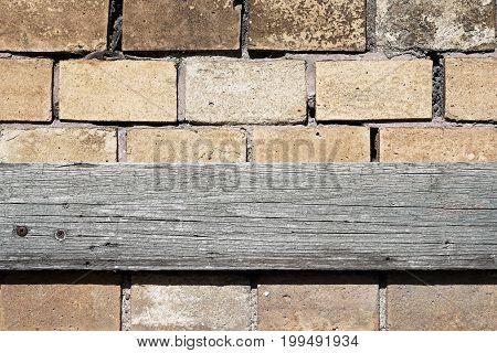 Wooden board on a facade of a House