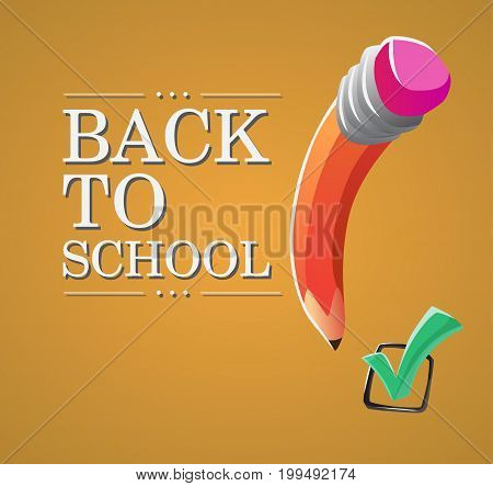 First day of school or welcome Back to school. Vector illustration.