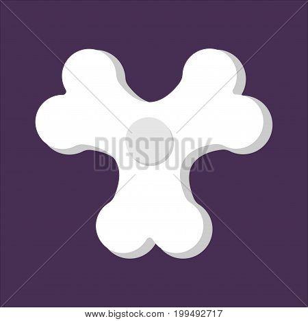 Spinner Bones Fidget Finger Toy. Halloween Anti Stress Hand Toy