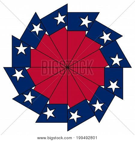 The flag of the USA state of TEXAS as a mandala image