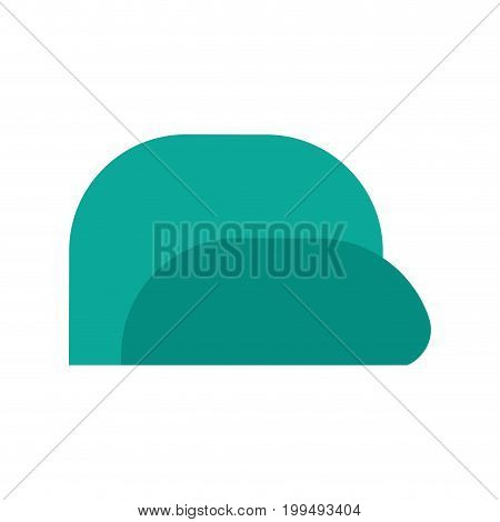 Baseball Cap Isolated. Summer Peaked Cap With Visor