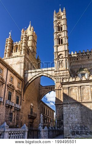Palermo Cathedral church building architecture, Sicily Italy