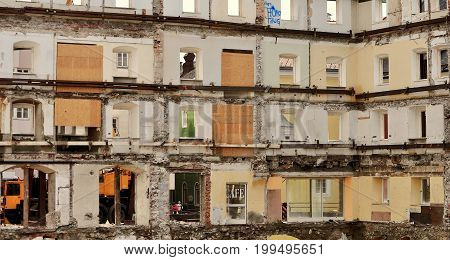 old House is demolished in Austria photo