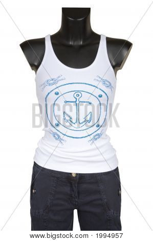 Vest With Figure And Jeans