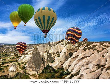 Cappadocia, Anatolia, Turkey. Love valley in Goreme national park.