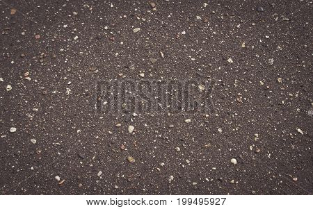 Black Road Asphalt Texture Pattern Background.