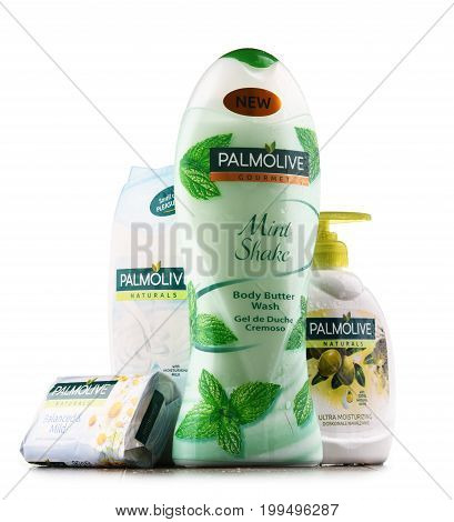 Containers Of Palmolive Cosmetics.