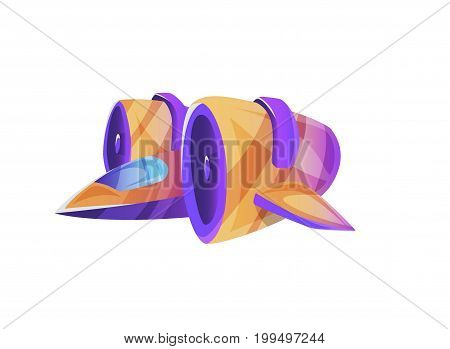 spaceship cartoon isolated on white background for the development of object games