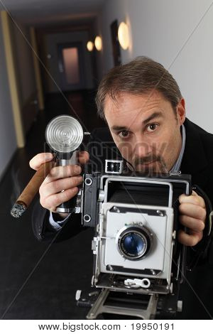 Retro Press Photographer