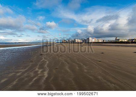 Ayr beach and seafront, Ayrshire, Scotland, United Kingdom.