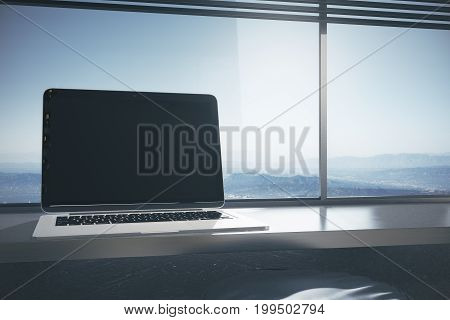 Laptop With Advertisement Space