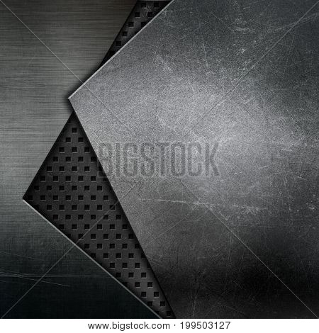 Abstract texture background with metallic designs