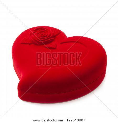 Red Heart-shaped Fancy Box