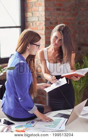 Business. Women in the office
