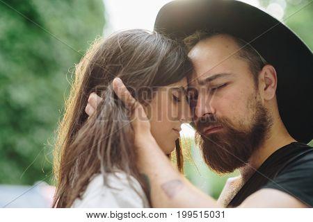 Young Beautiful Couple In Love Enjoying Romantic Moment