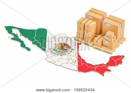Shipping and Delivery from Mexico isolated on white background