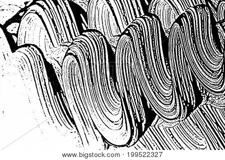 Grunge Soap Texture 17. Distress Black And White Rough Foam Trace Nice Background. Noise Dirty Recta