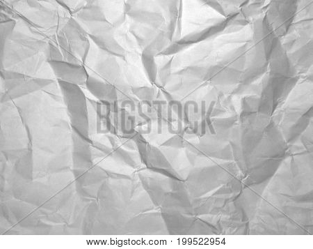 Gray crumpled paper texture. Wrinkled Paper background