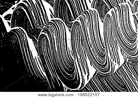 Grunge Soap Texture Invert. Distress Black And White Rough Foam Trace Memorable Background. Noise Di