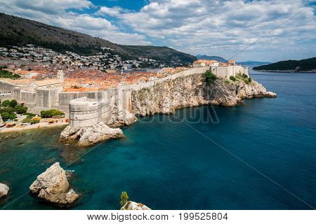 Historic Wall Of Dubrovnik Old Town, Croatia.