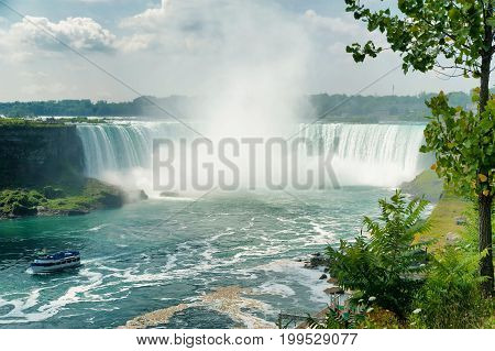 Beautiful view on Niagara Falls in daylight