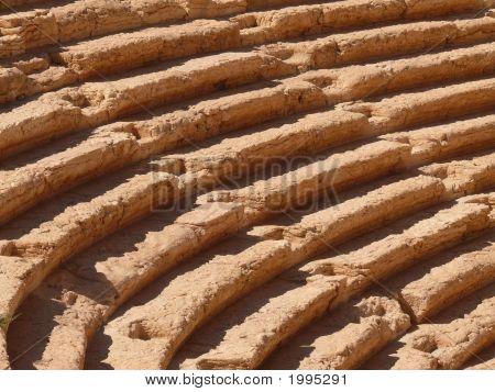 Ancient Auditorium Stairway Close Up, Amphitheatre, Palmyra, Syria